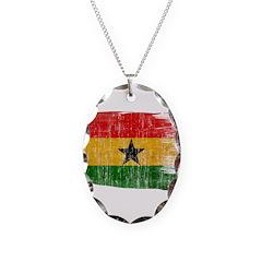 Ghana Flag Necklace