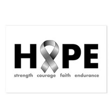Grey Ribbon Hope Postcards (Package of 8)