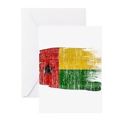 Guinea Bissau Flag Greeting Cards (Pk of 10)