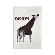 Okapi Painting Rectangle Magnet