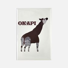 Okapi Painting Rectangle Magnet