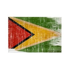 Guyana Flag Rectangle Magnet