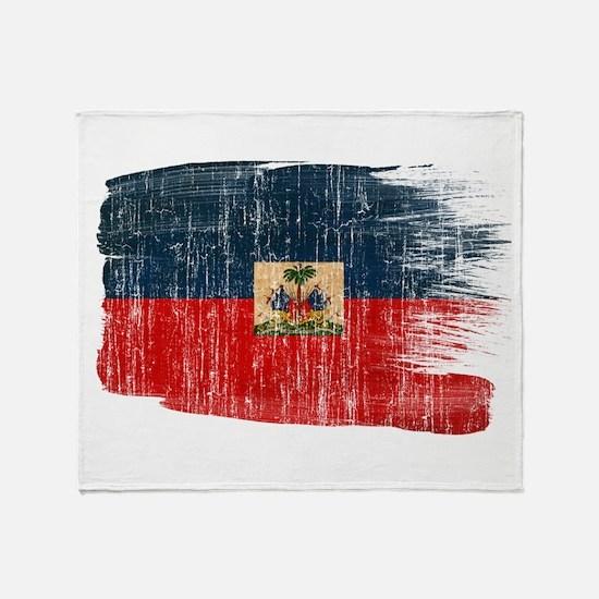 Haiti Flag Throw Blanket