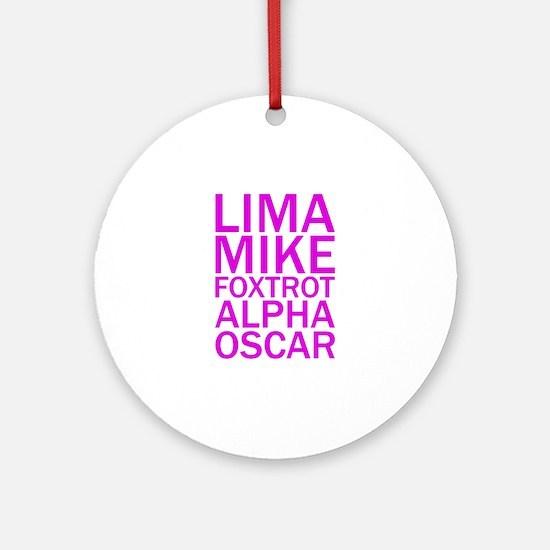 LMFAO-Purple Ornament (Round)