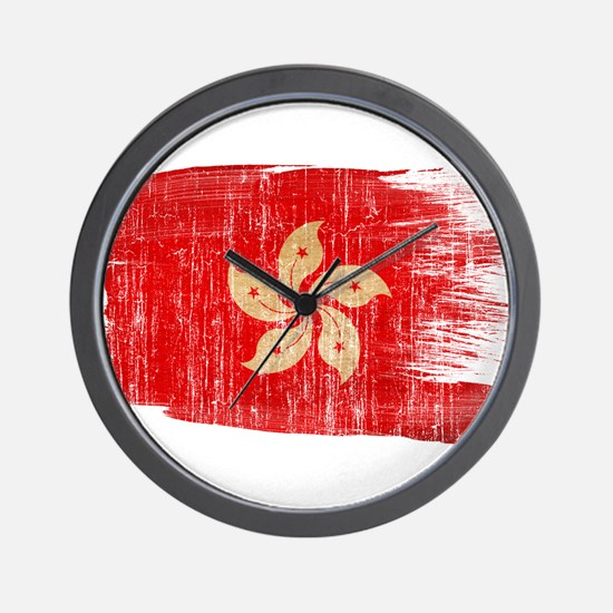 Hong Kongtex3-paint style aged copy.png Wall Clock