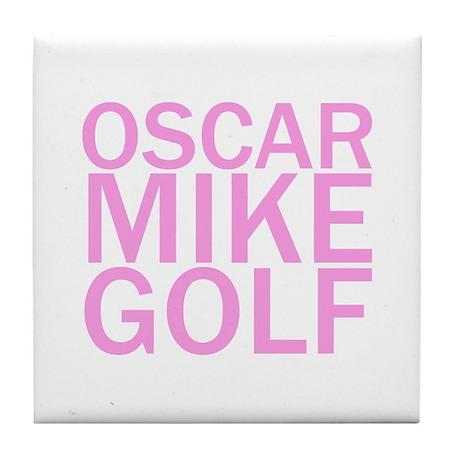 OMG-Pink Tile Coaster