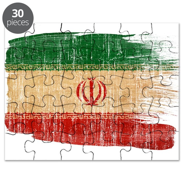 Iran flag puzzle by fadedpaintflags for Iran flag coloring page