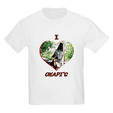 I Love Okapi's Kids T-Shirt