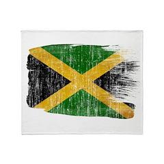 Jamaica Flag Throw Blanket