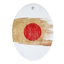 Japan Flag Ornament (Oval)