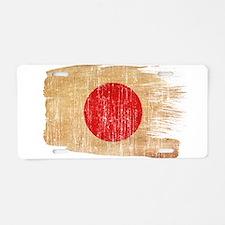 Japan Flag Aluminum License Plate