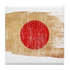 Japan Flag Tile Coaster