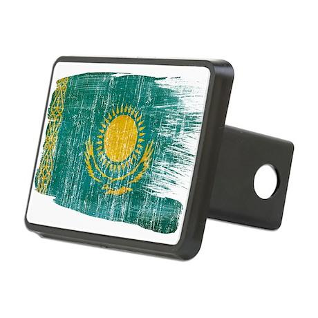 Kazakhstan Flag Rectangular Hitch Cover