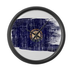 Kentucky Flag Large Wall Clock