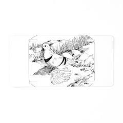 Moon Pigeon 1973 Aluminum License Plate