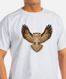 Beadwork Great Horned Owl T-Shirt