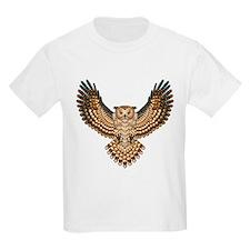 Beadwork Great Horned Owl T-Shirt
