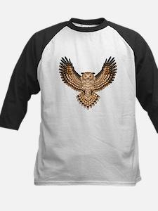 Beadwork Great Horned Owl Kids Baseball Jersey