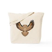 Beadwork Great Horned Owl Tote Bag