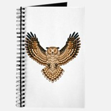 Beadwork Great Horned Owl Journal
