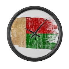Madagascar Flag Large Wall Clock