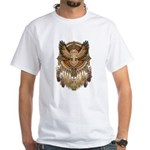 Native American Owl Mandala 1 White T-Shirt