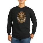 Native American Owl Mandala 1 Long Sleeve Dark T-S