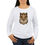 Native American Owl Mandala 1 Women's Long Sleeve