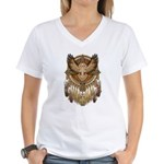 Native American Owl Mandala 1 Women's V-Neck T-Shi