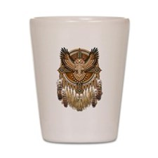Native American Owl Mandala 1 Shot Glass