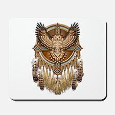 Native American Owl Mandala 1 Mousepad