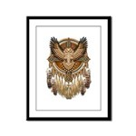 Native American Owl Mandala 1 Framed Panel Print