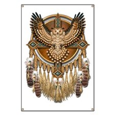 Native American Owl Mandala 1 Banner