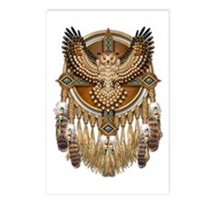 Native American Owl Mandala 1 Postcards (Package o