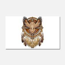Native American Owl Mandala 1 Car Magnet 20 x 12