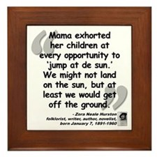 Hurston Mama Quote Framed Tile