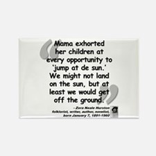 Hurston Mama Quote Rectangle Magnet