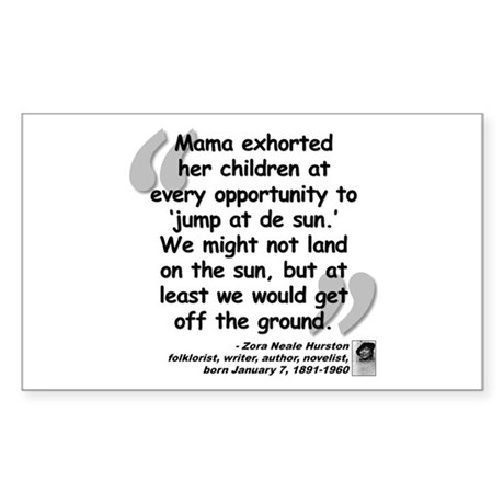 Hurston Mama Quote Sticker (Rectangle)