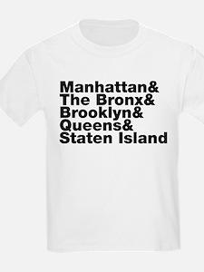 Five Boroughs New York City T-Shirt