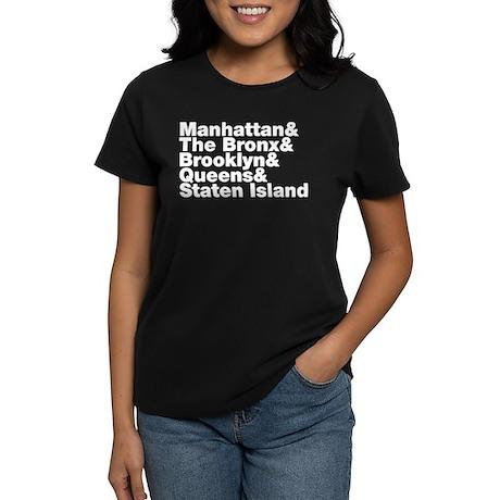 Five Boroughs New York City Women's Dark T-Shirt