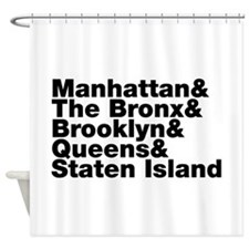 Five Boroughs New York City Shower Curtain
