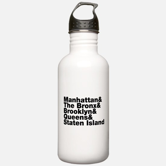 Five Boroughs New York City Water Bottle