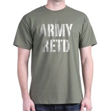 Army retd white distressed print T-Shirt