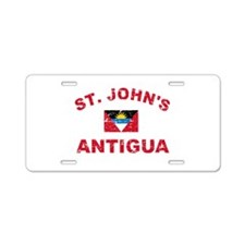 St. John;s Antigua designs Aluminum License Plate