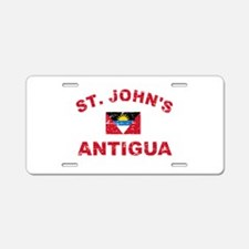 St. John;s Antigua designs Aluminum License Plate