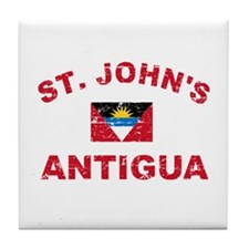 St. John;s Antigua designs Tile Coaster