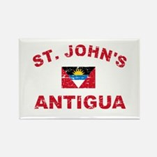 St. John;s Antigua designs Rectangle Magnet
