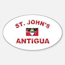 St. John;s Antigua designs Sticker (Oval)
