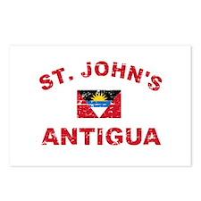 St. John;s Antigua designs Postcards (Package of 8