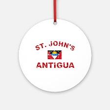 St. John;s Antigua designs Ornament (Round)
